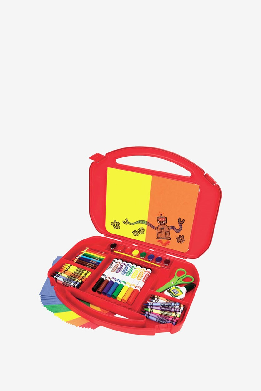Ultimate Art Supplies In A Suitcase, Red