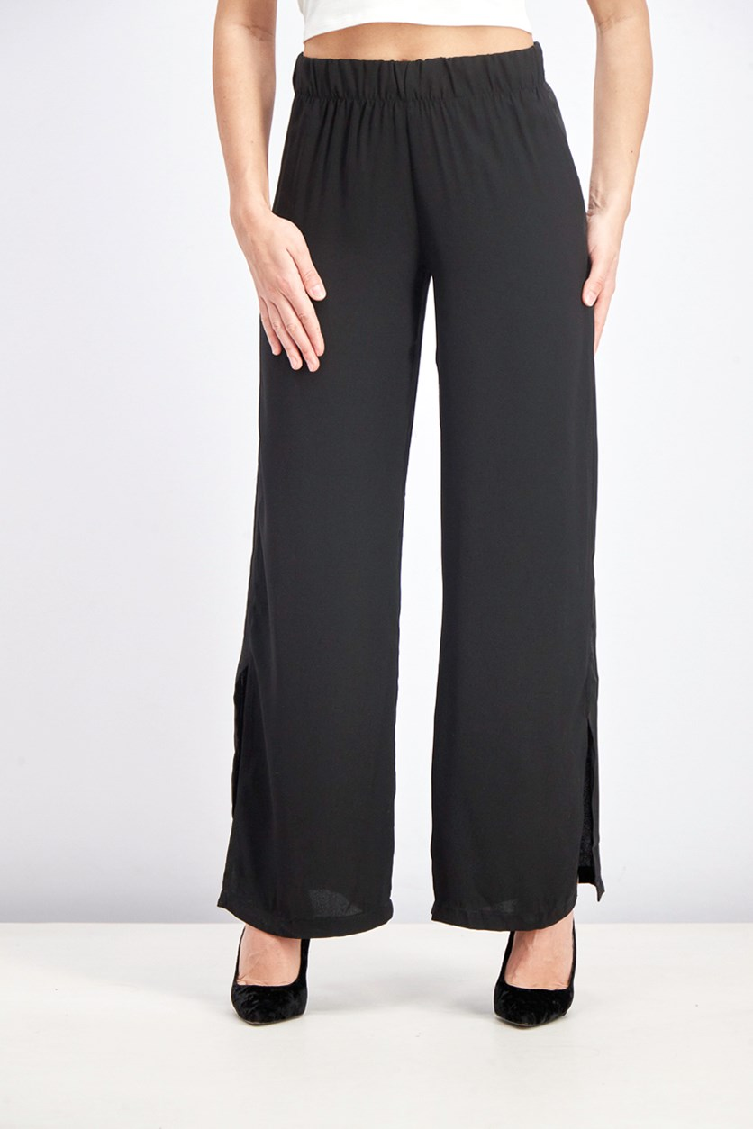Women's Pull On Pants, Black