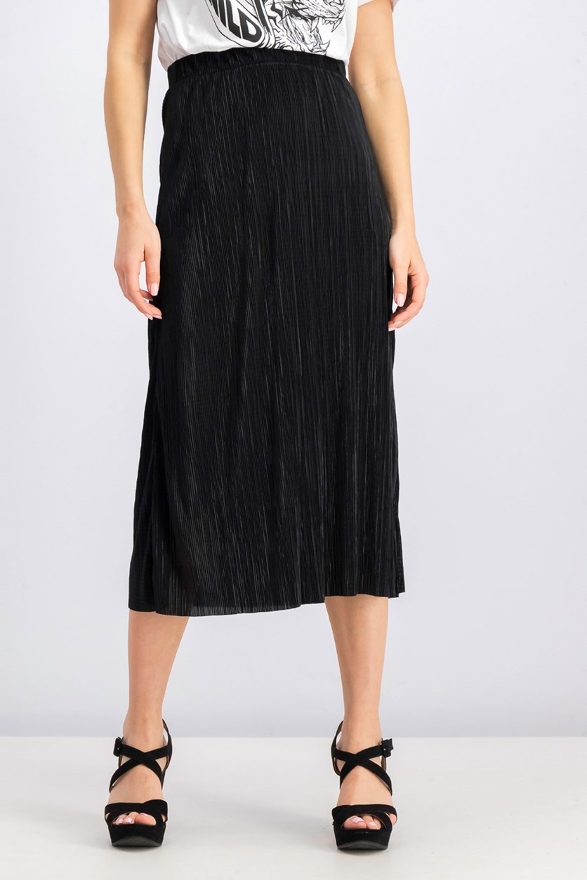 Women's Plain Maxi Skirt, Black