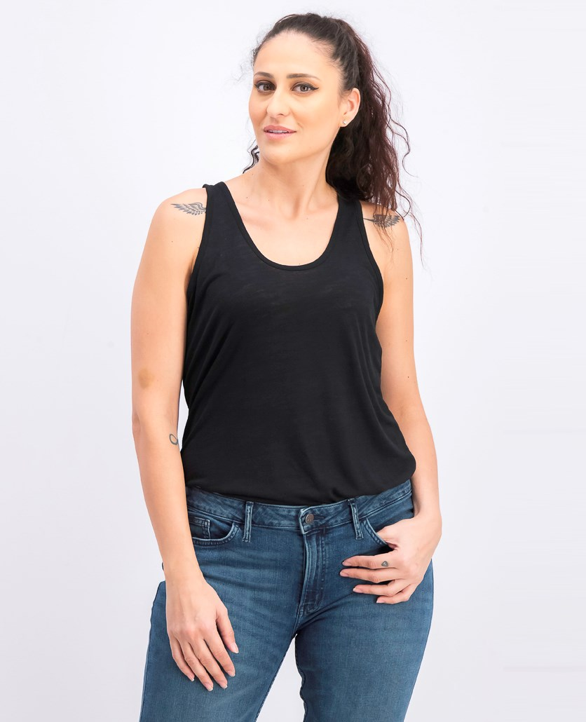 Apparel Women's Solid Soft Tank Top, Black