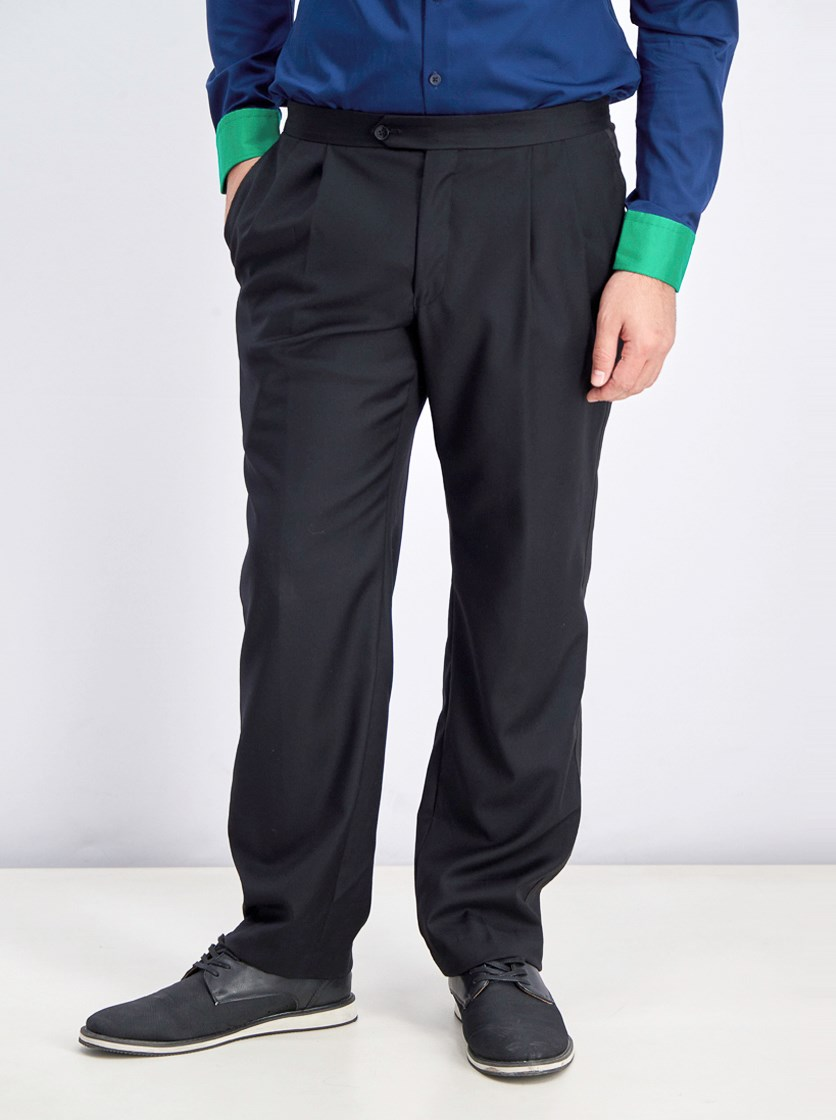 Men Tuxedo Eagan Black Pants, Black