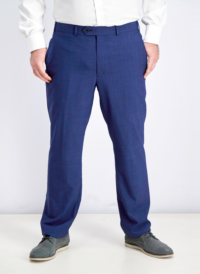 Lauren Ralph Lauren Ultraflex Wool Suit Pants, Blue