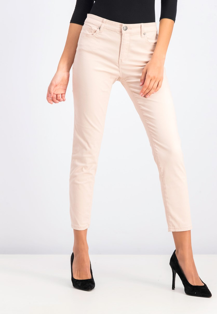 Ladies Stretch Capri Pants, Blush