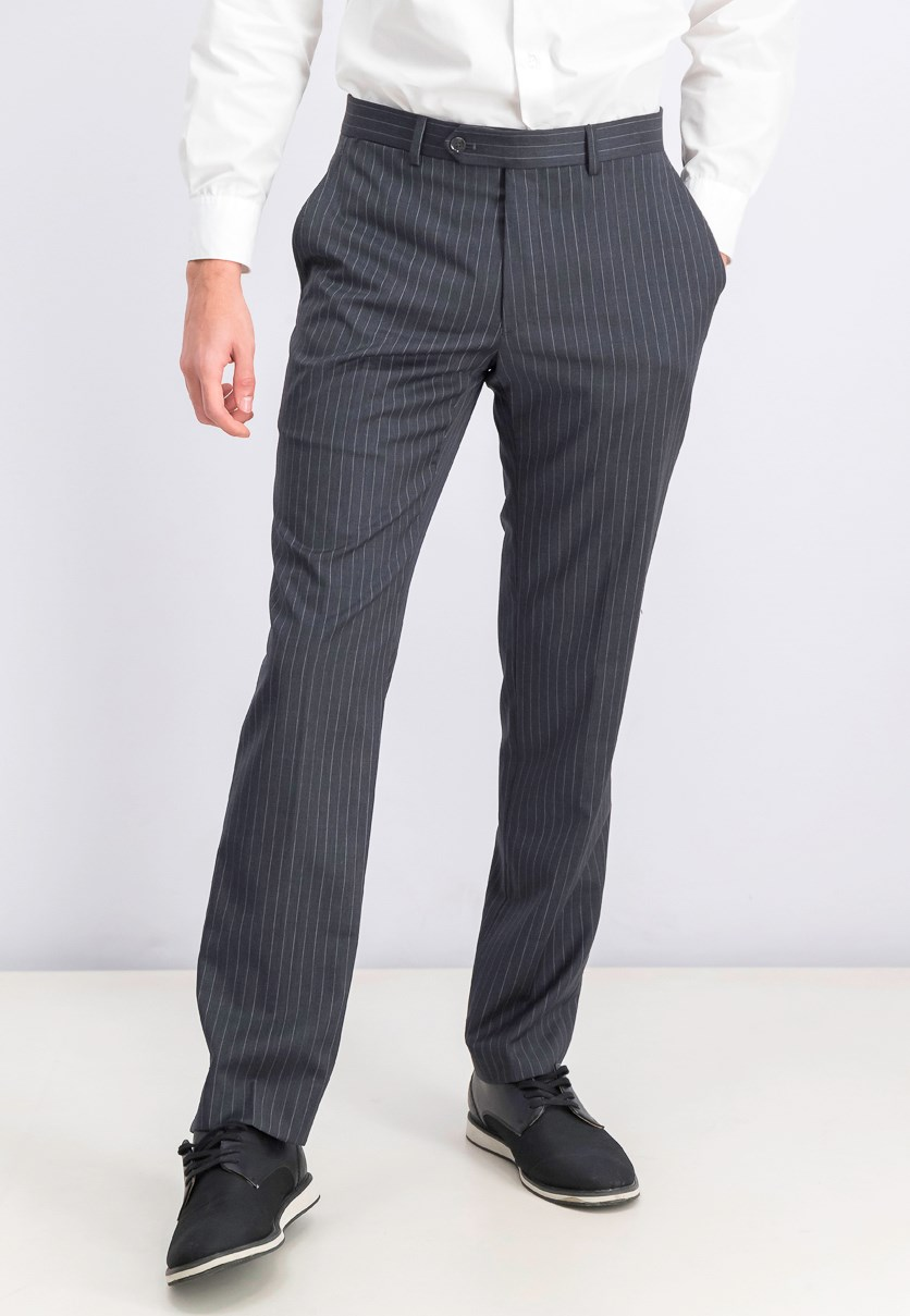 Men's Striped Pants, Grey/White