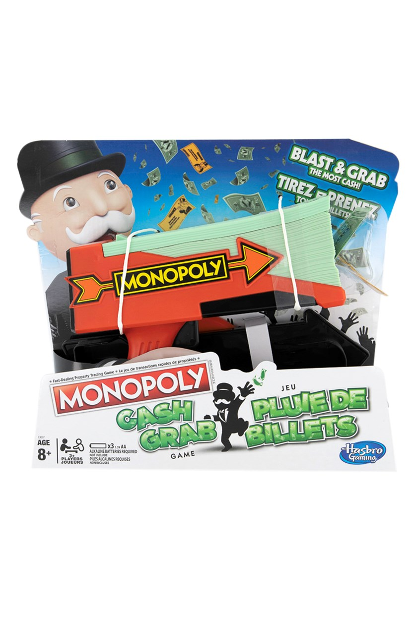 Monopoly Cash Grab  Board Game, Red/Mint Green