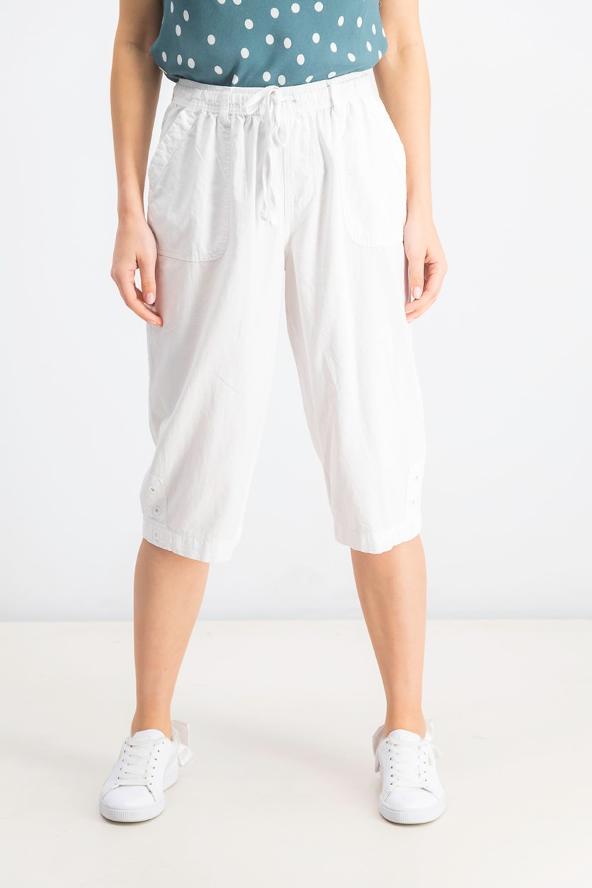 Women's Cropped Pants, Bright White