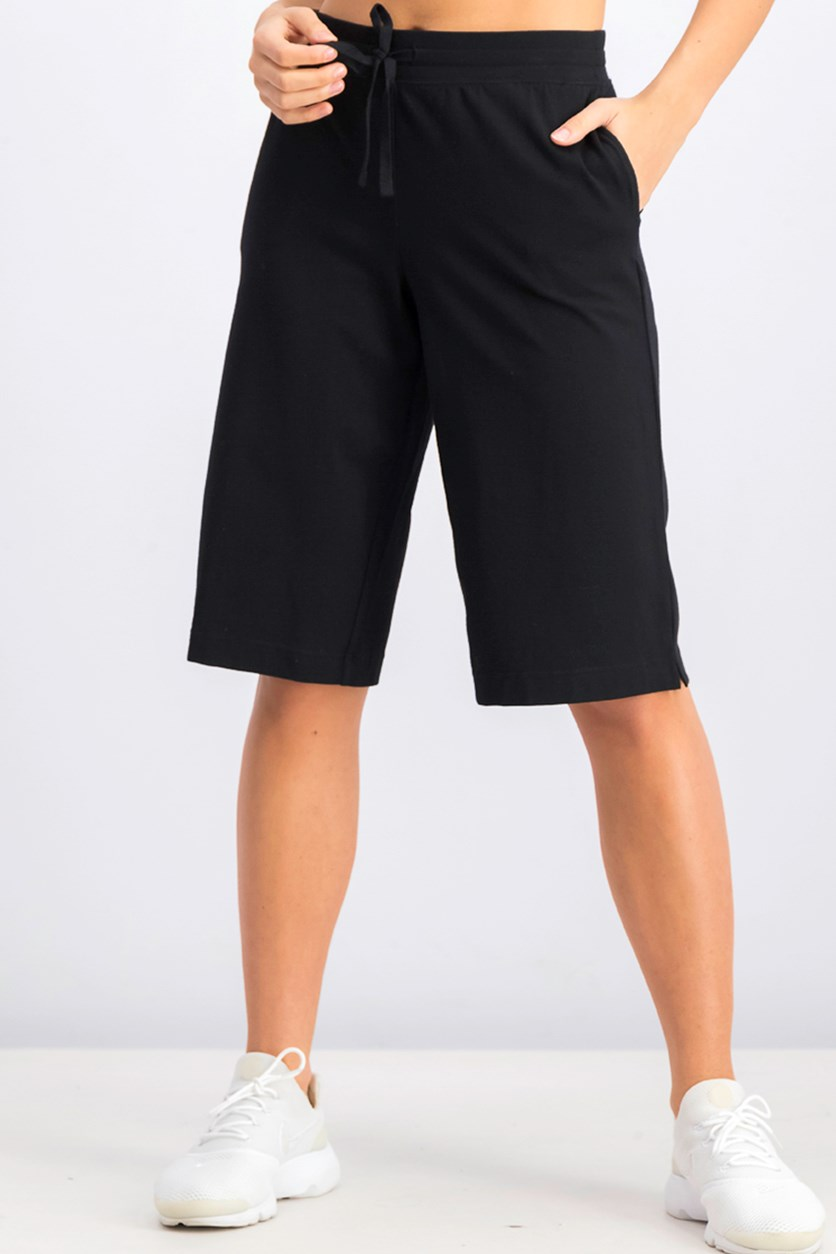 Women's Pull-On Knit Skimmers, Deep Black
