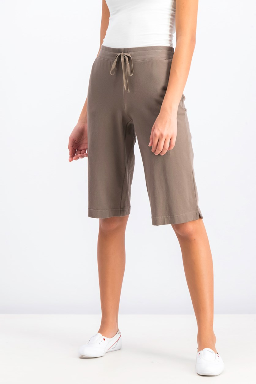 Women's Sport Skimmer Shorts, Brown Clay