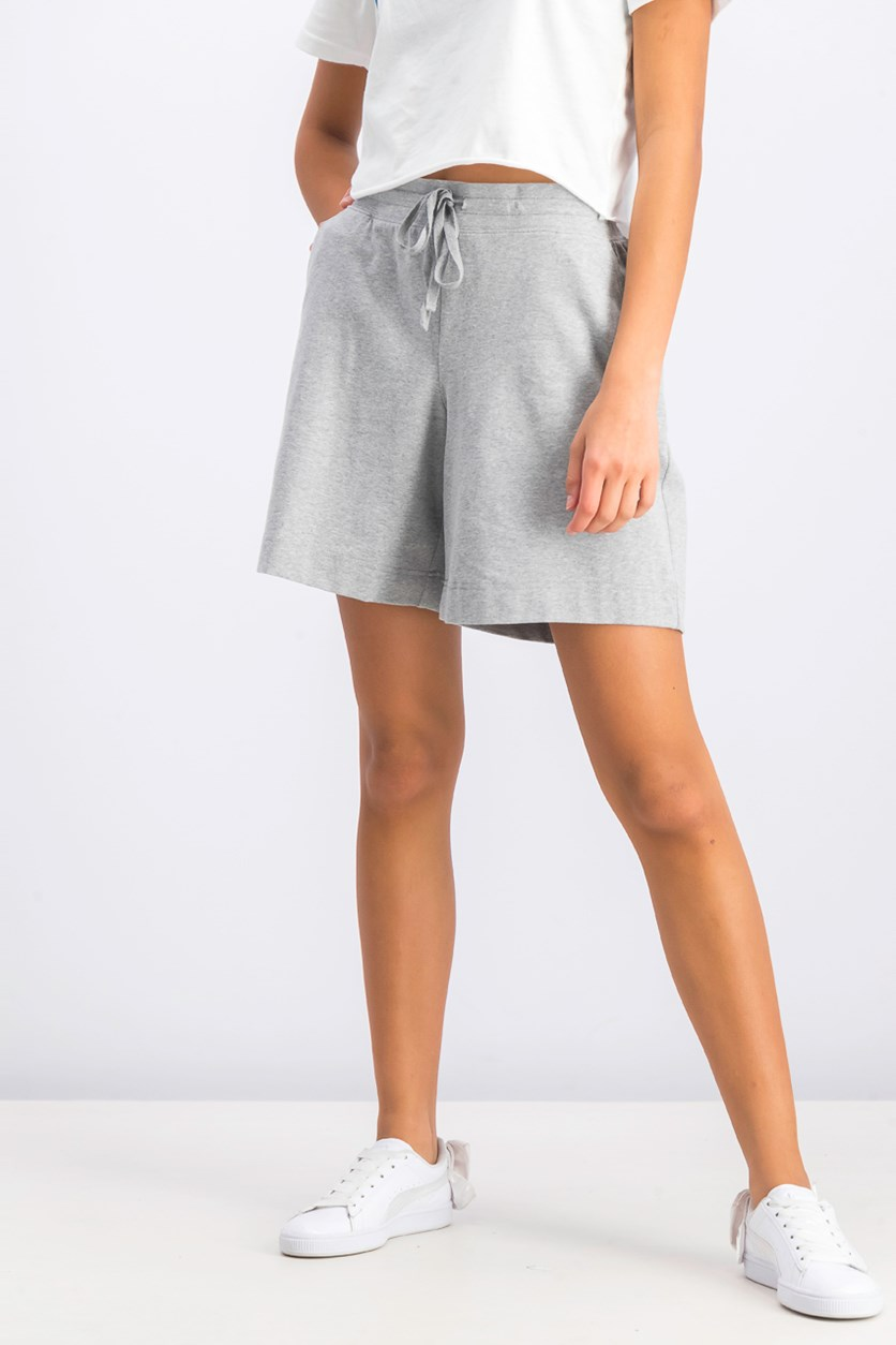Women's Drawstring Short, Smoke Grey Heather