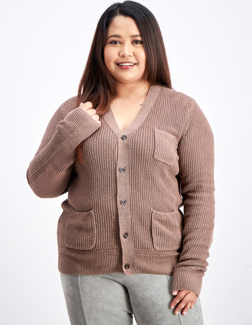Women's  Heyward Cardigan, Medium Brown