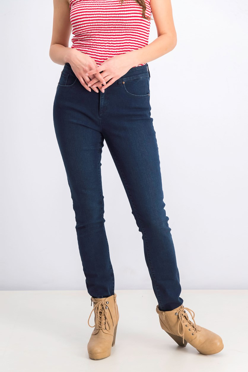 Women's Comfort Waist Stretchable Jeans, Navy