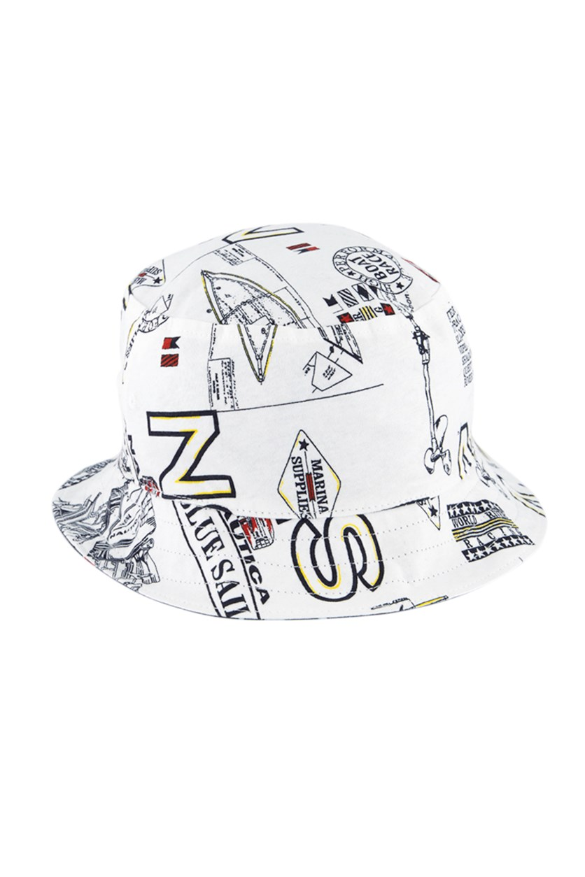 Men's Reversible Logo Graphic Bucket Hat, Blue