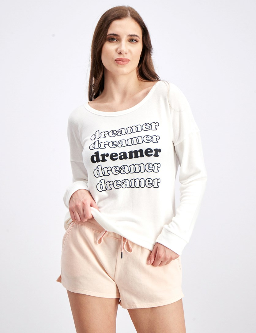 Women's Dreamer Long Sleeve Sleep Top, Ivory