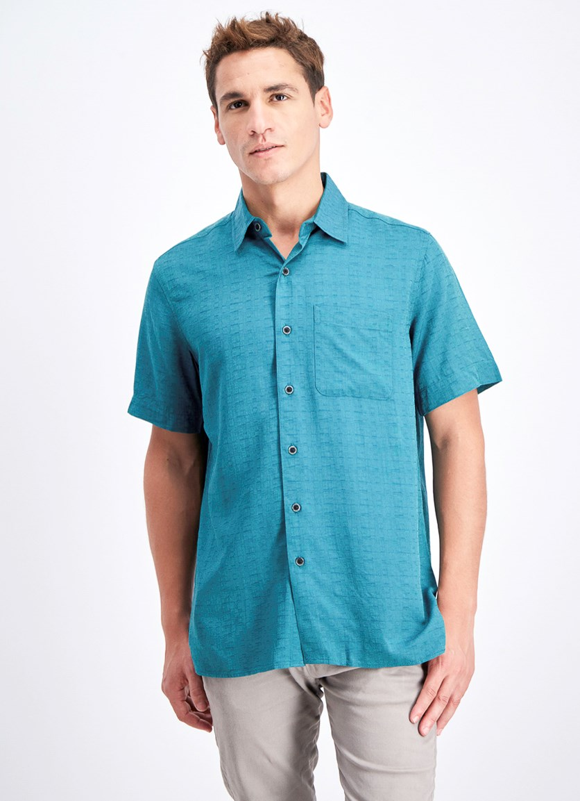 Men's Textured Shirt, Pacific