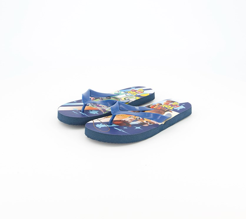 Boy's Toy Story Slip On Slippers, Blue Combo