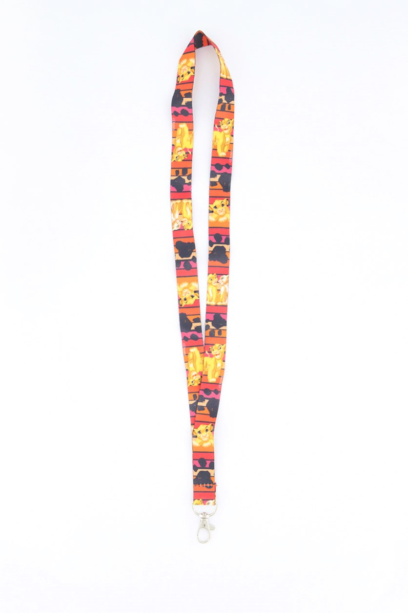 Simba And Nalla Lanyard, Orange/Red