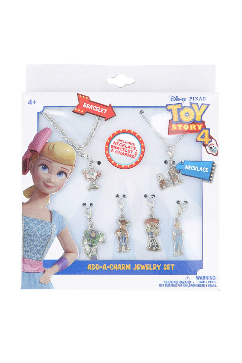 Toy Story 4 Add-A-Charm Jewelry Set, Silver