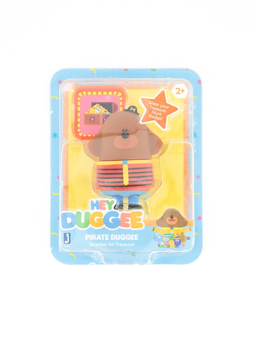 Hey Duggee Pirate Duggee Figure With Badge,, Brown/Red/Blue