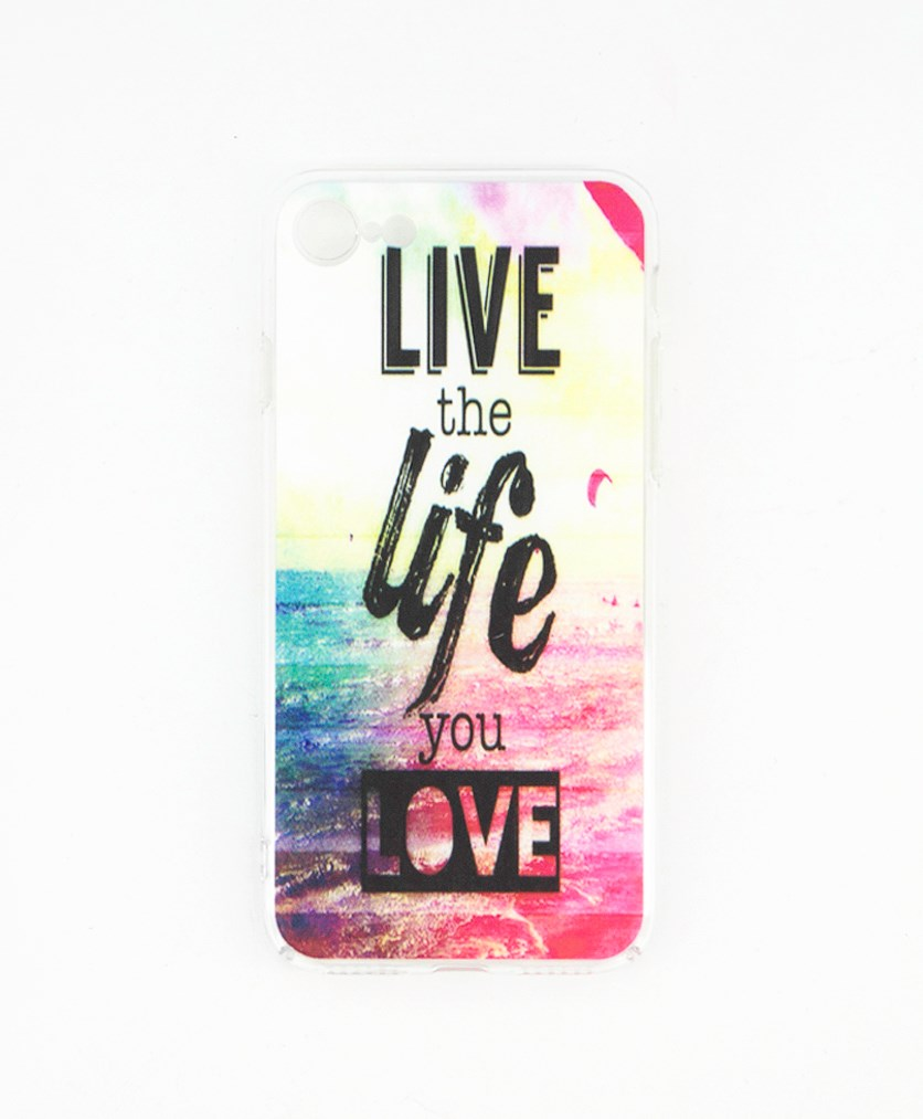 Iphone 7/8 Graphic Print Protective Case, Black/Pink Combo
