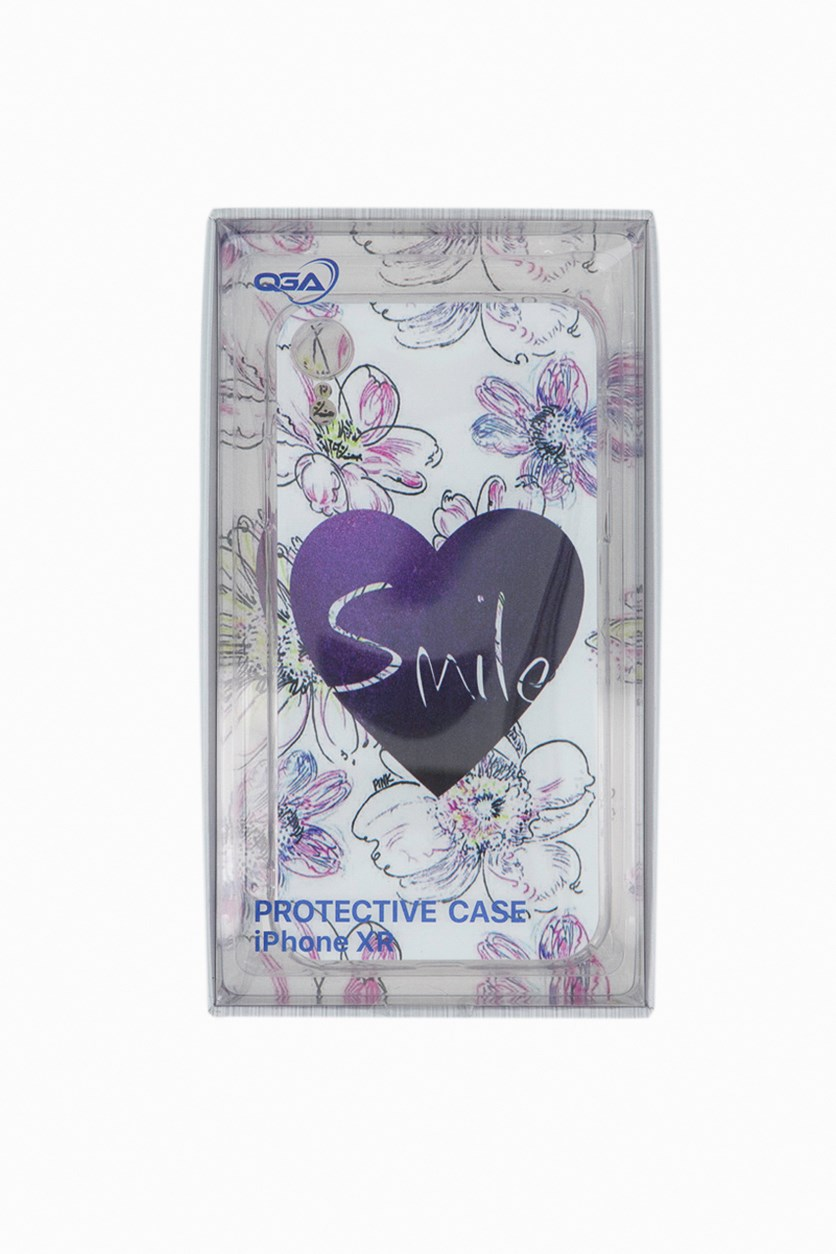 Fashion Print Case For Iphone XR, Purple/White