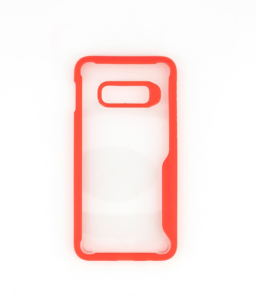Bumper Clear Case For Samsung S10E, Red/Transparent