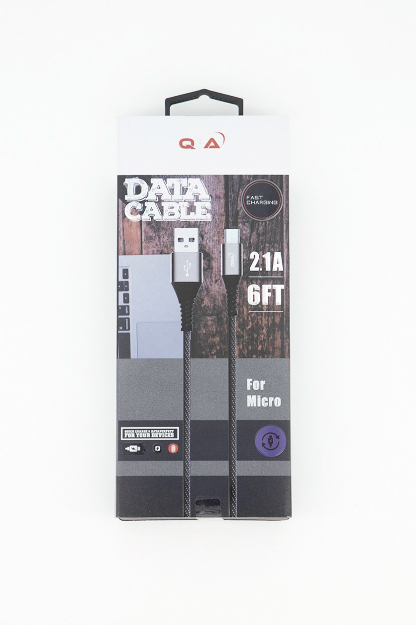Fast Charging Data Cable, Black