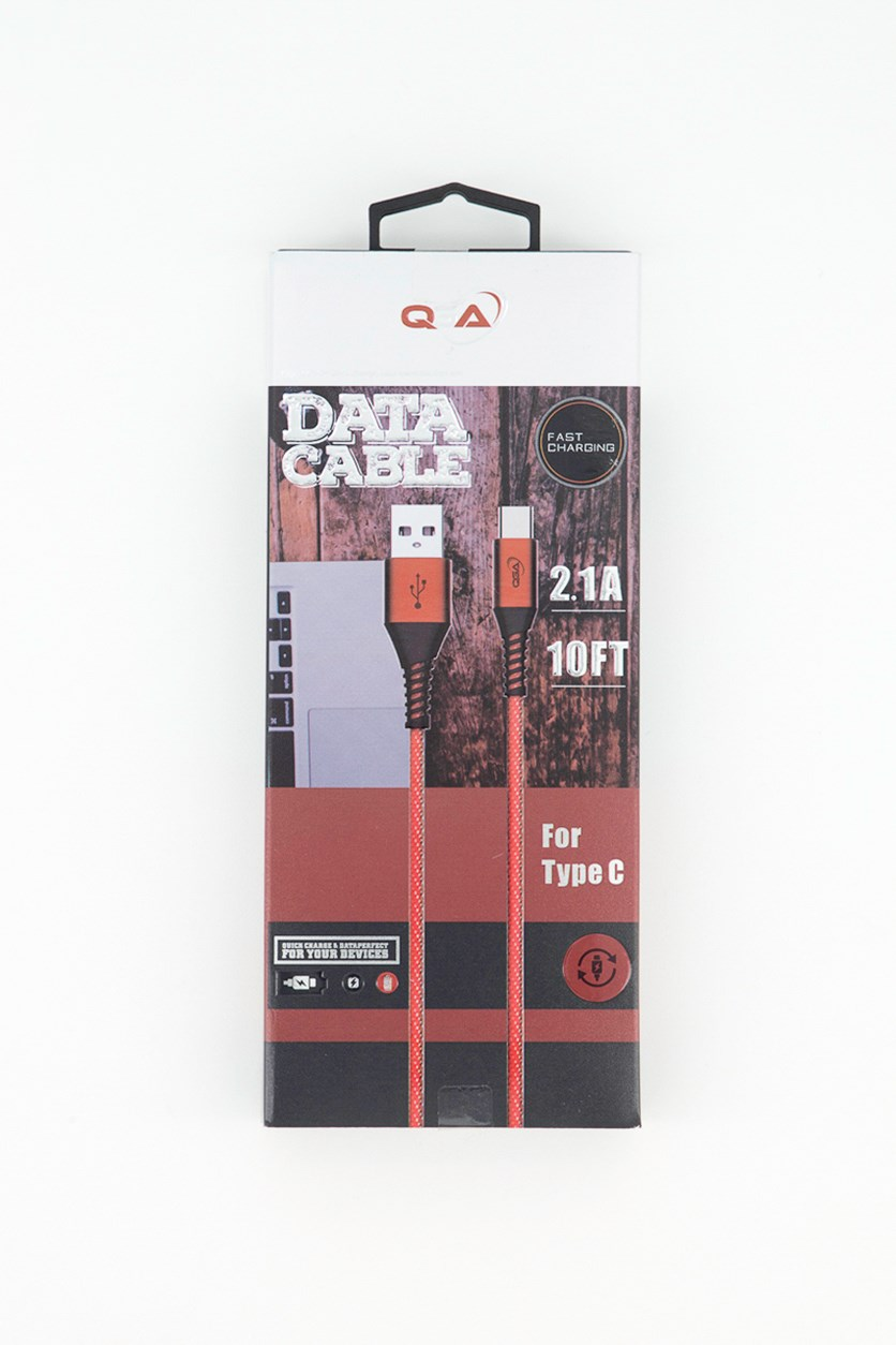 Data Cable For Type C, Red