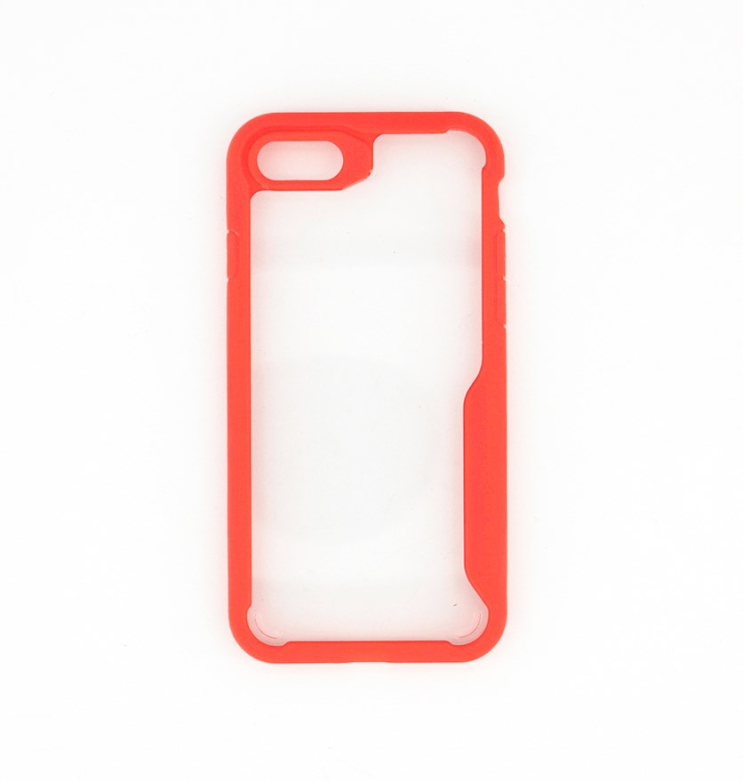 Bumper Clear Case for Iphone 7/8, Red/Transparent