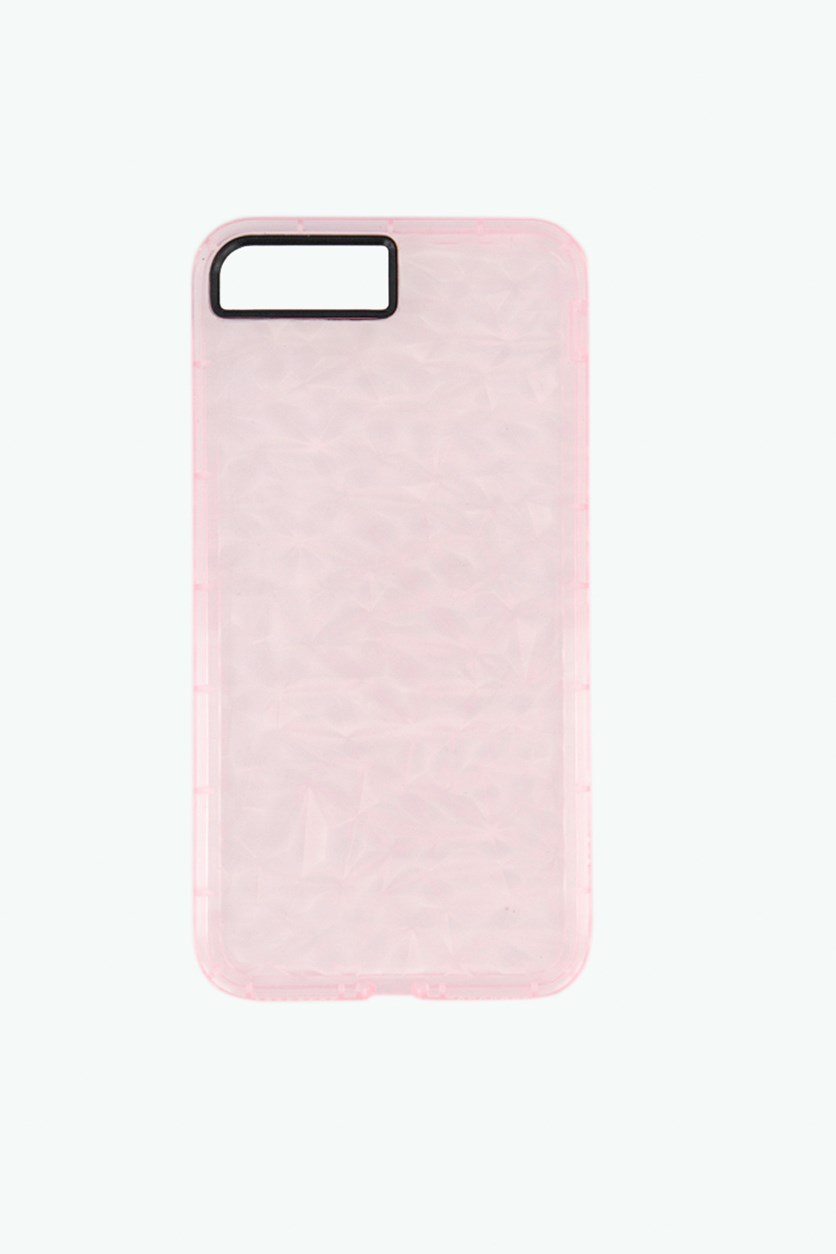 Transparent Diamond Style Case for iphone 7+/8+, Pink