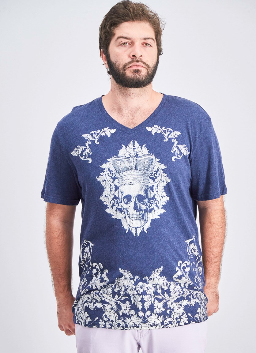 Men's Skull King Tee, Navy