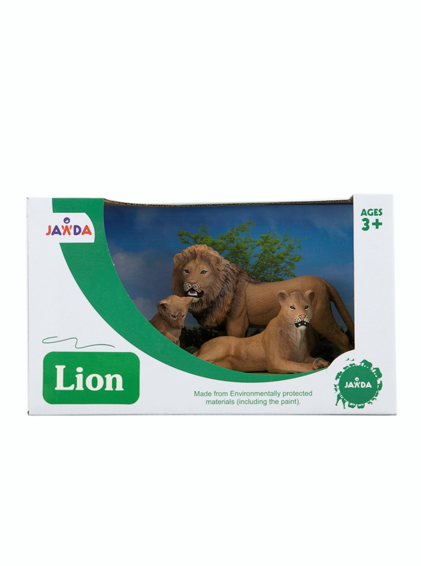Animals Collections Lion Set of 3, Brown