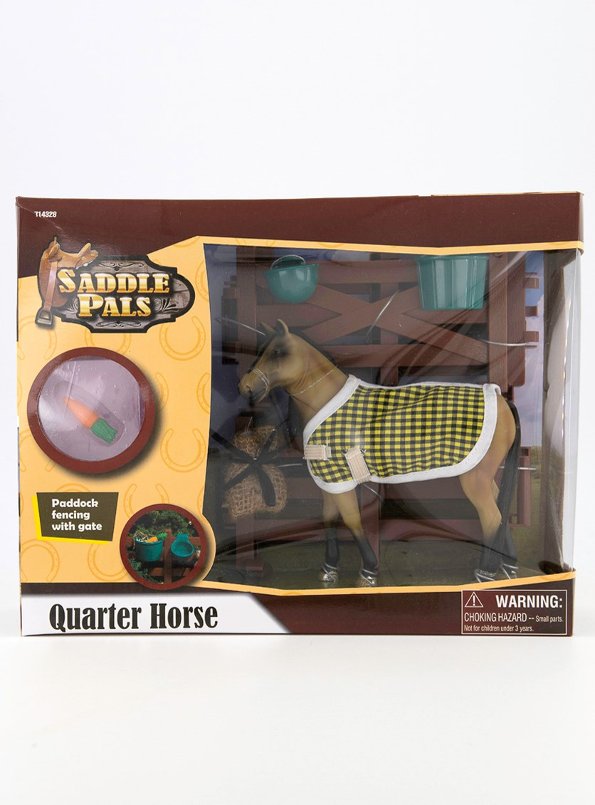 Saddle Paddle Quarter Horse, Brown /Yellow