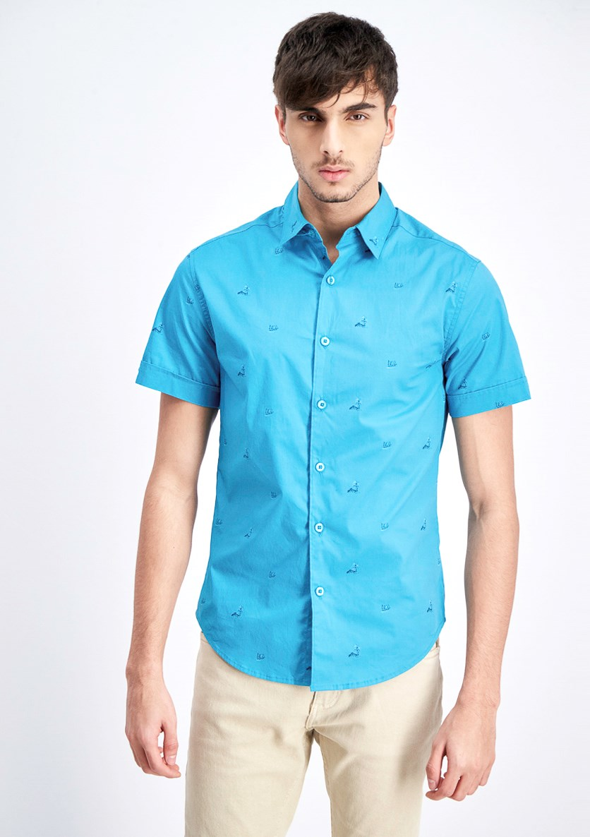 Men's Printed Casual Shirt, Biscay Bay