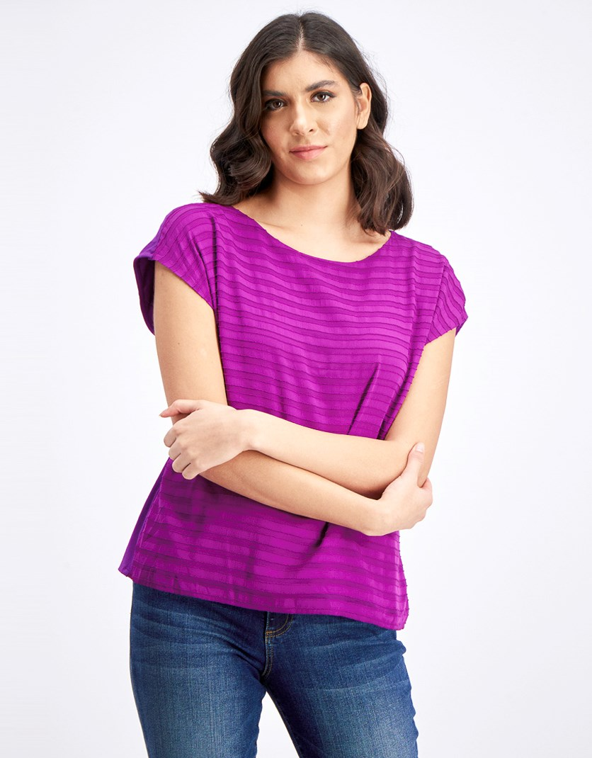 Women's Sleeveless Blouse, Rich Magenta