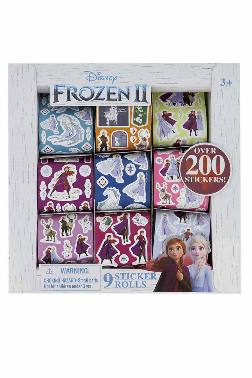 Frozen 9 Rolls Of Stickers Over 200 Stickers Stocking Stuffer Gift, White Combo