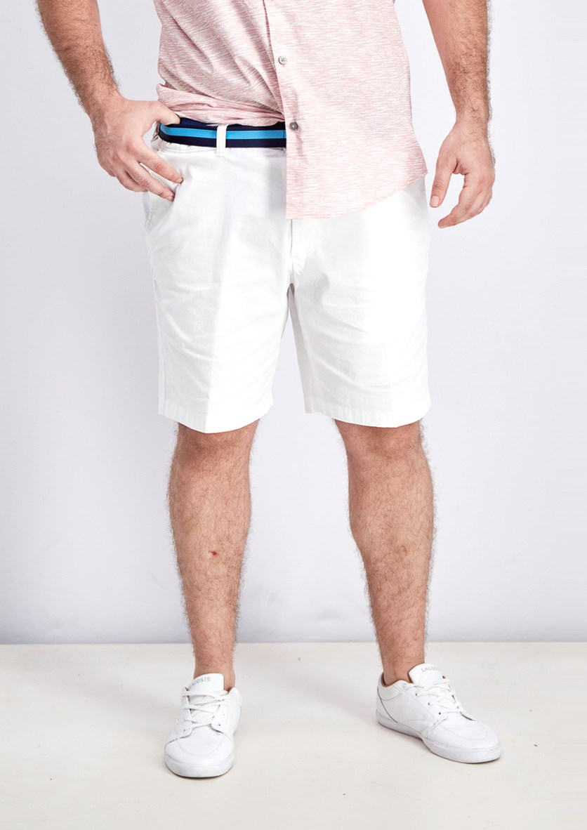 Men's Classic-Fit Stretch Shorts, Bright White