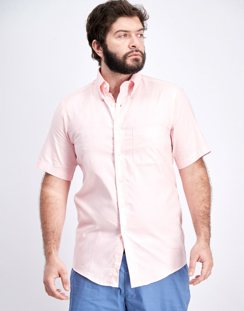 Men's Regular Fit Oxford Dress Shirt, Pink