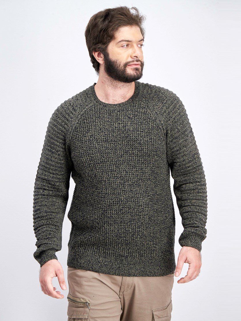 Men's Regular-Fit Ottoman-Sleeve Sweater, Tank
