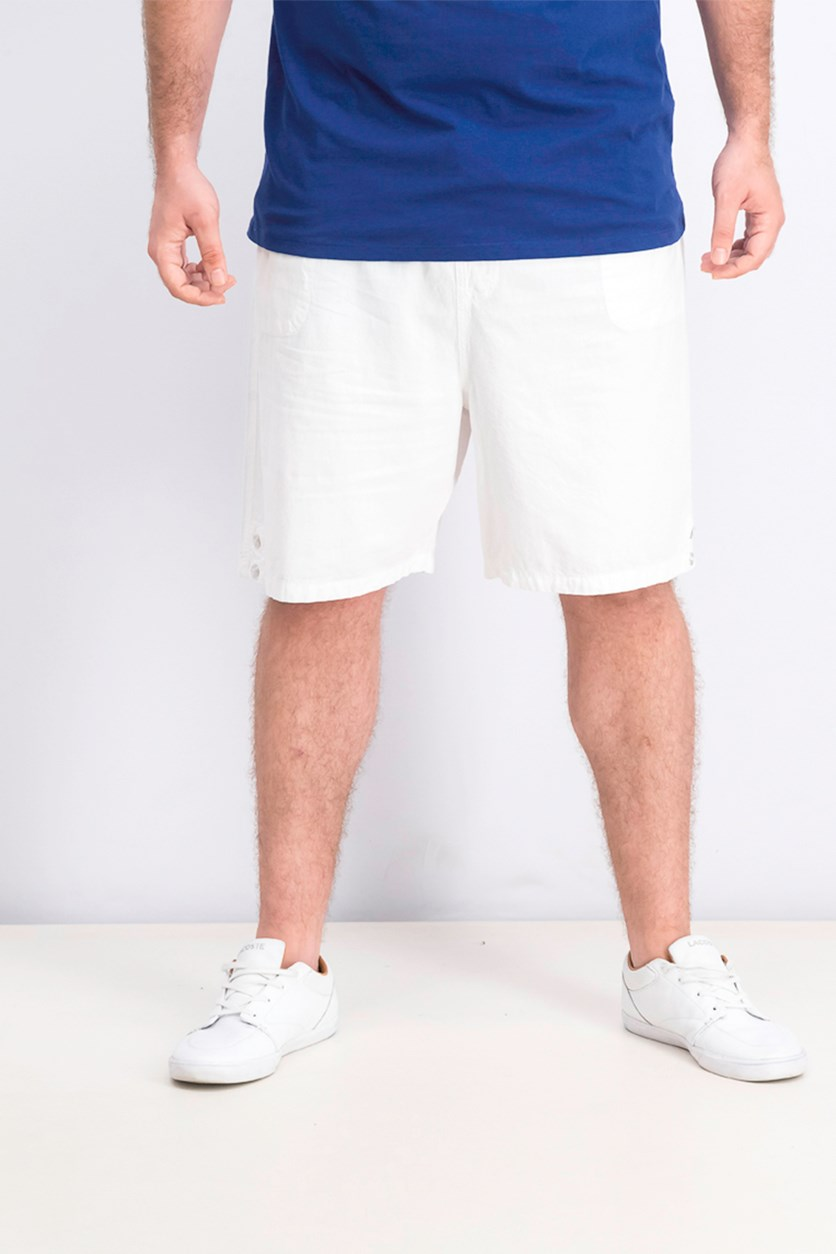 Men's Cotton Drawstring Shorts, Bright White
