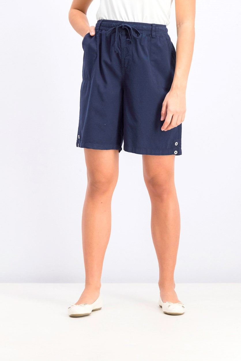 Women's Pull On Short, Navy Blue