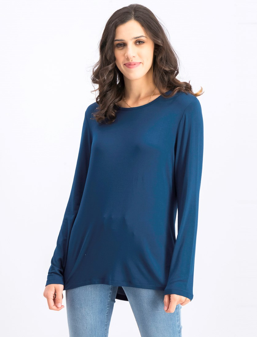 Womens Pullover Top, Pacific Teal
