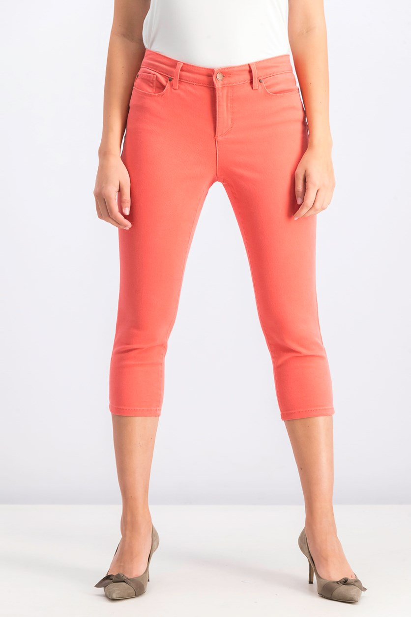 Women's Petite Bristol Capri Pants, Sweet Pepper