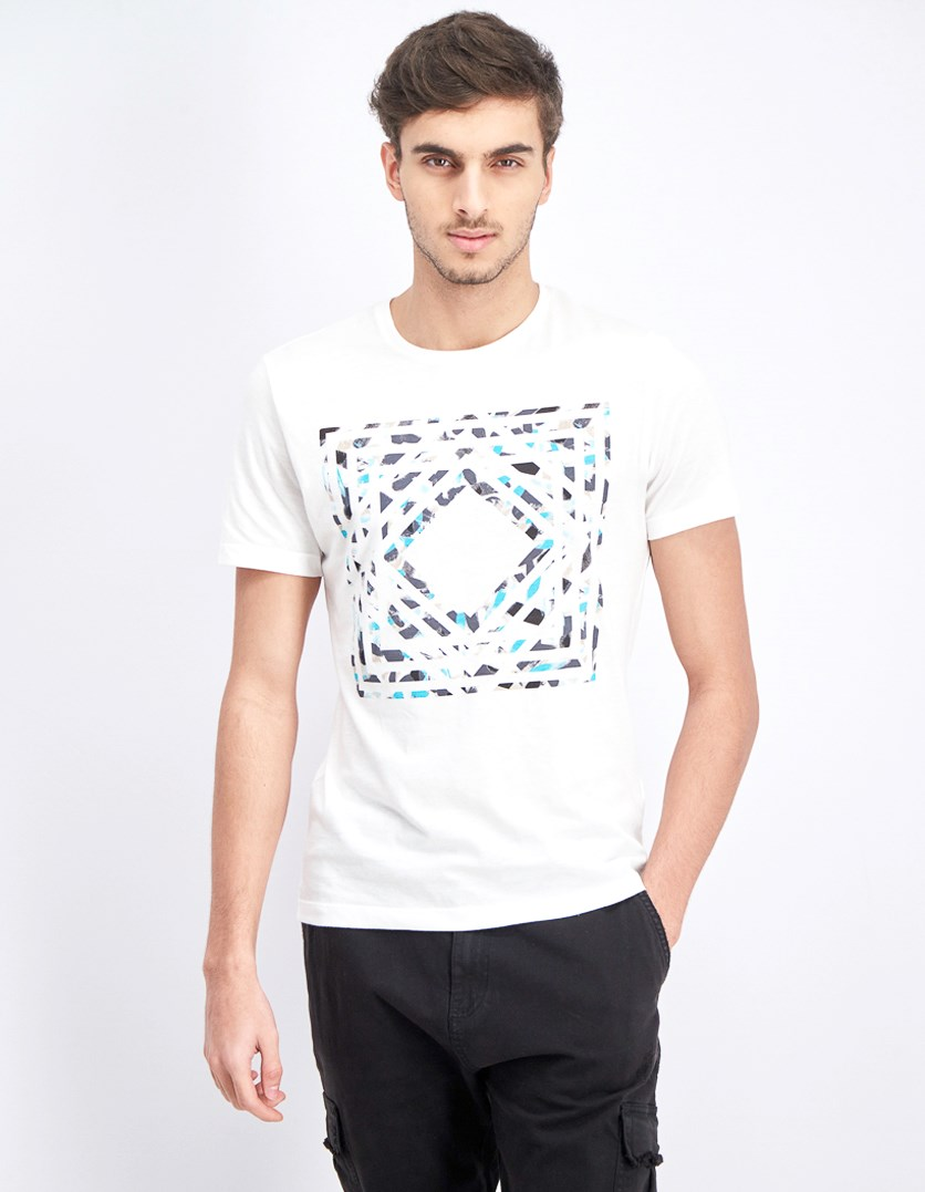 Men's Dry Brush Graphic T-Shirt, White