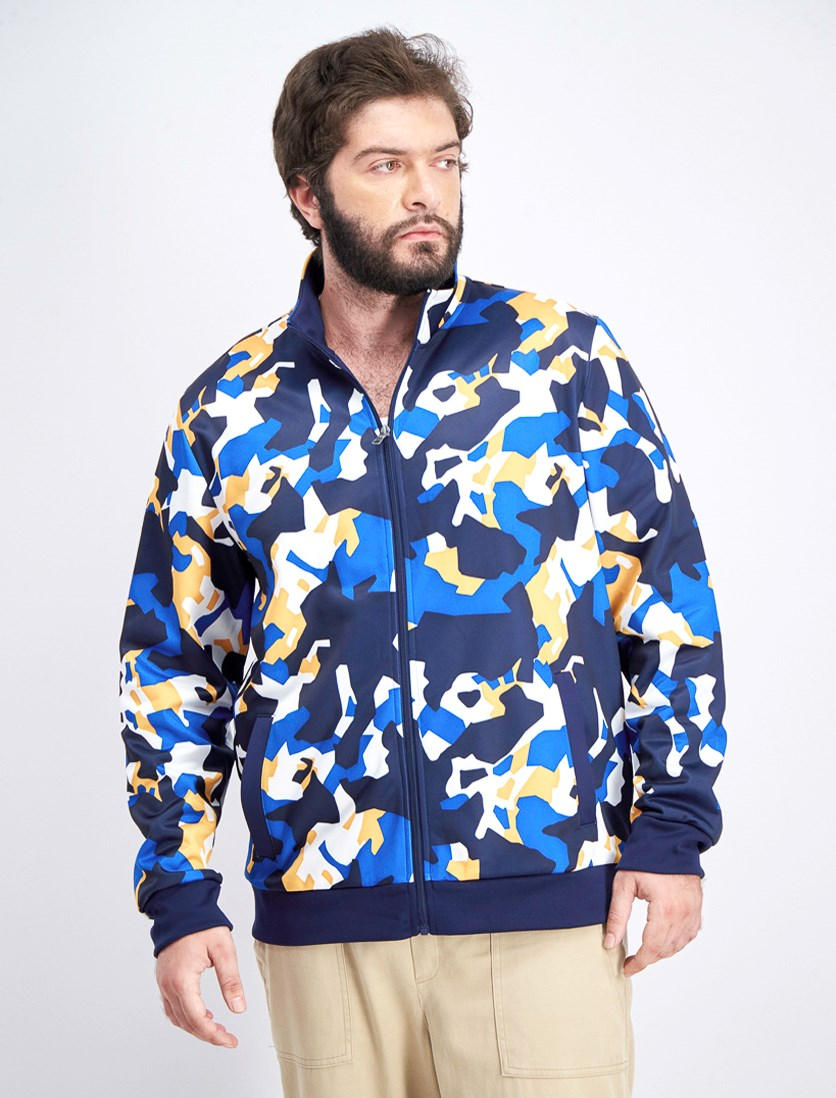 Men's Bevin Printed Graphic Jacket, Navy Combo