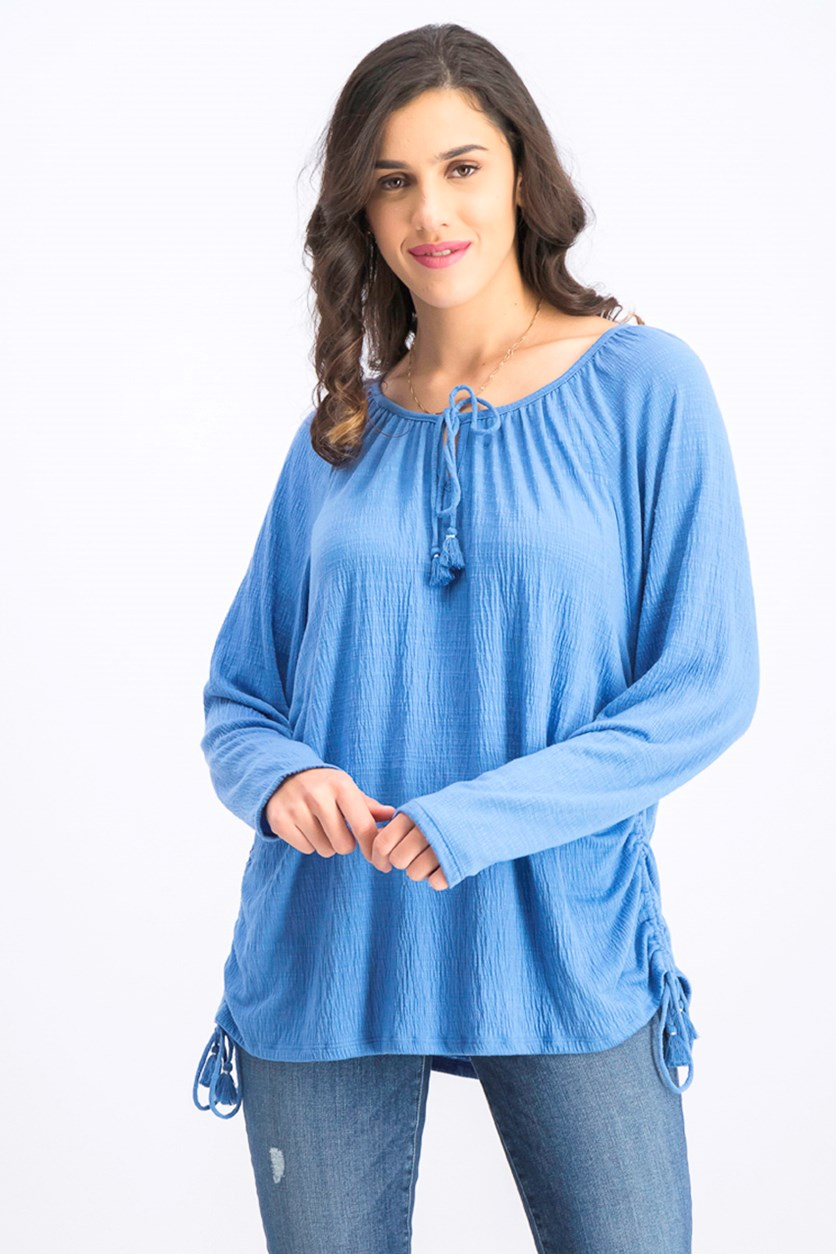 Women's Tie-Neck Top, Peri Dream