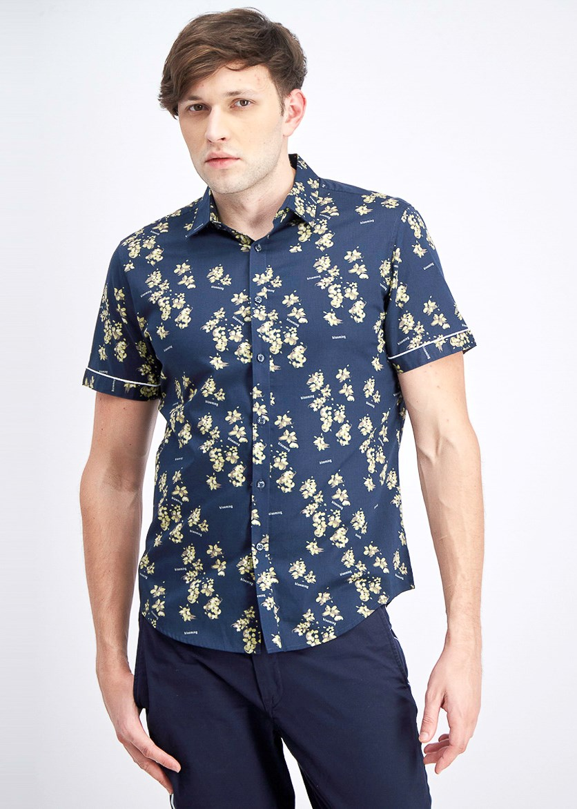 Men's Blooming Floral Shirt, Navy Combo