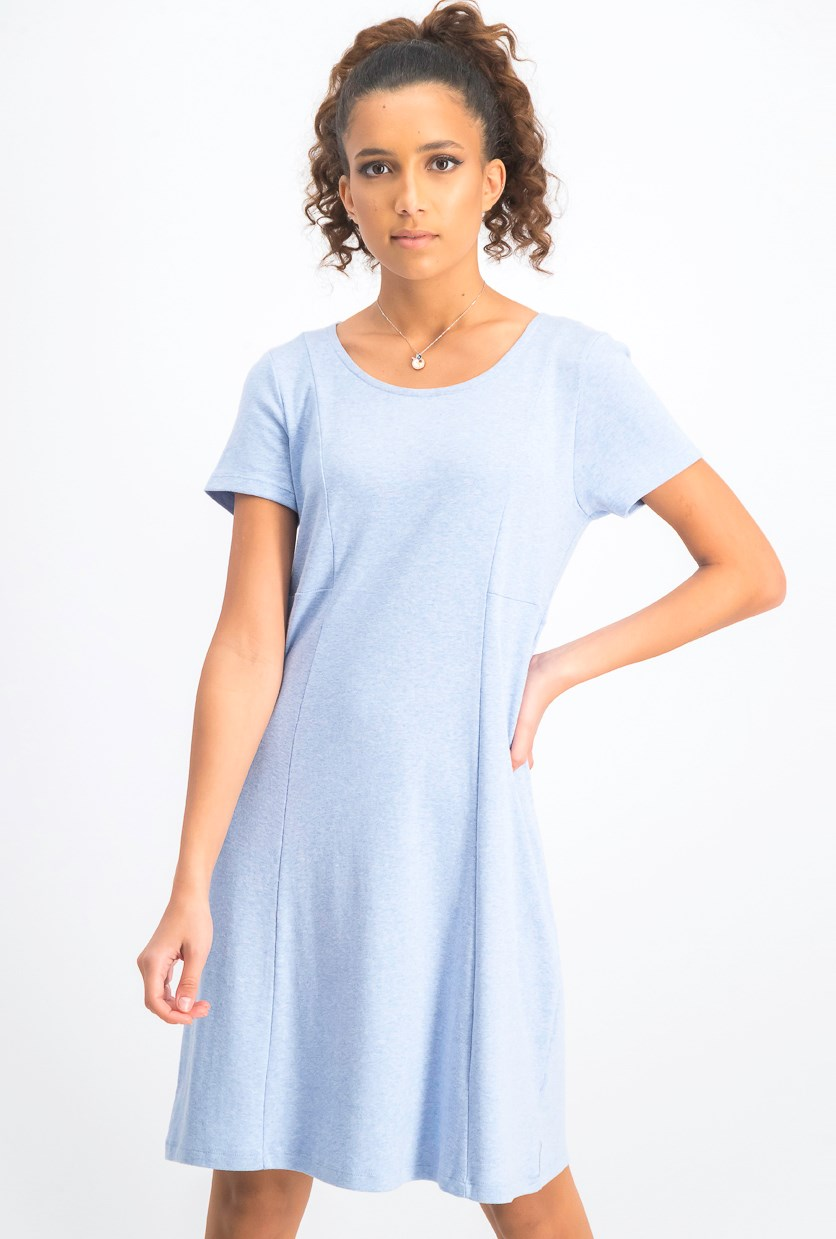 Women's Seam Front Dress, Blue Heather