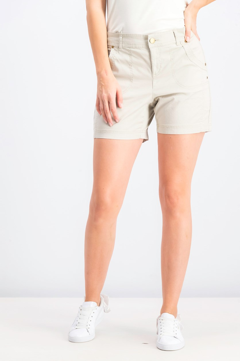 Women's Petite Relaxed Fit Shorts, Stonewall