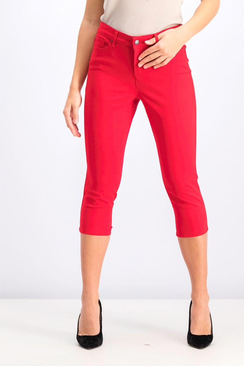 Women's Petite Cropped Jeans, Ravishing Red