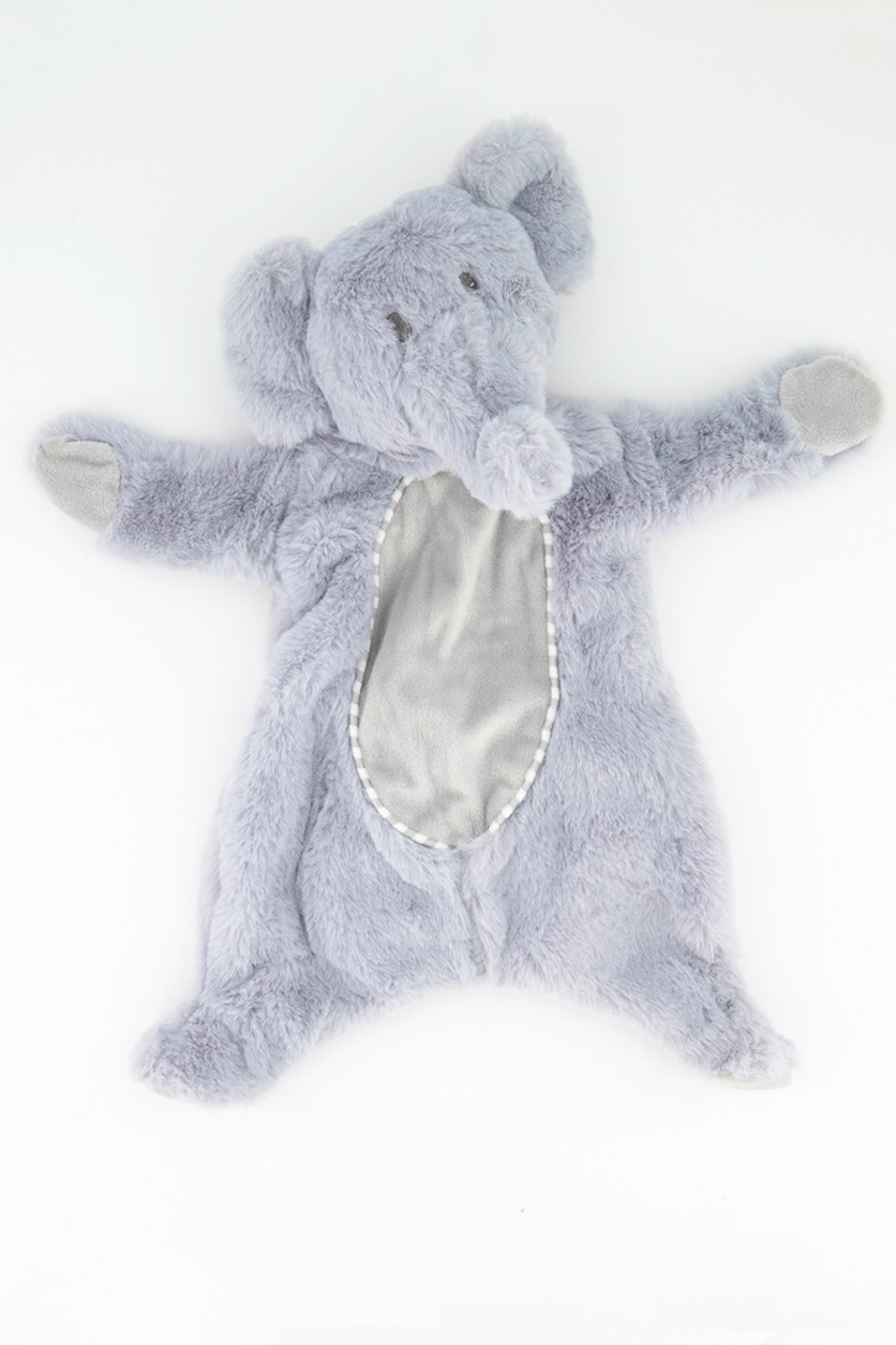 Elephant Baby Security Crinkle Rattle, Gray
